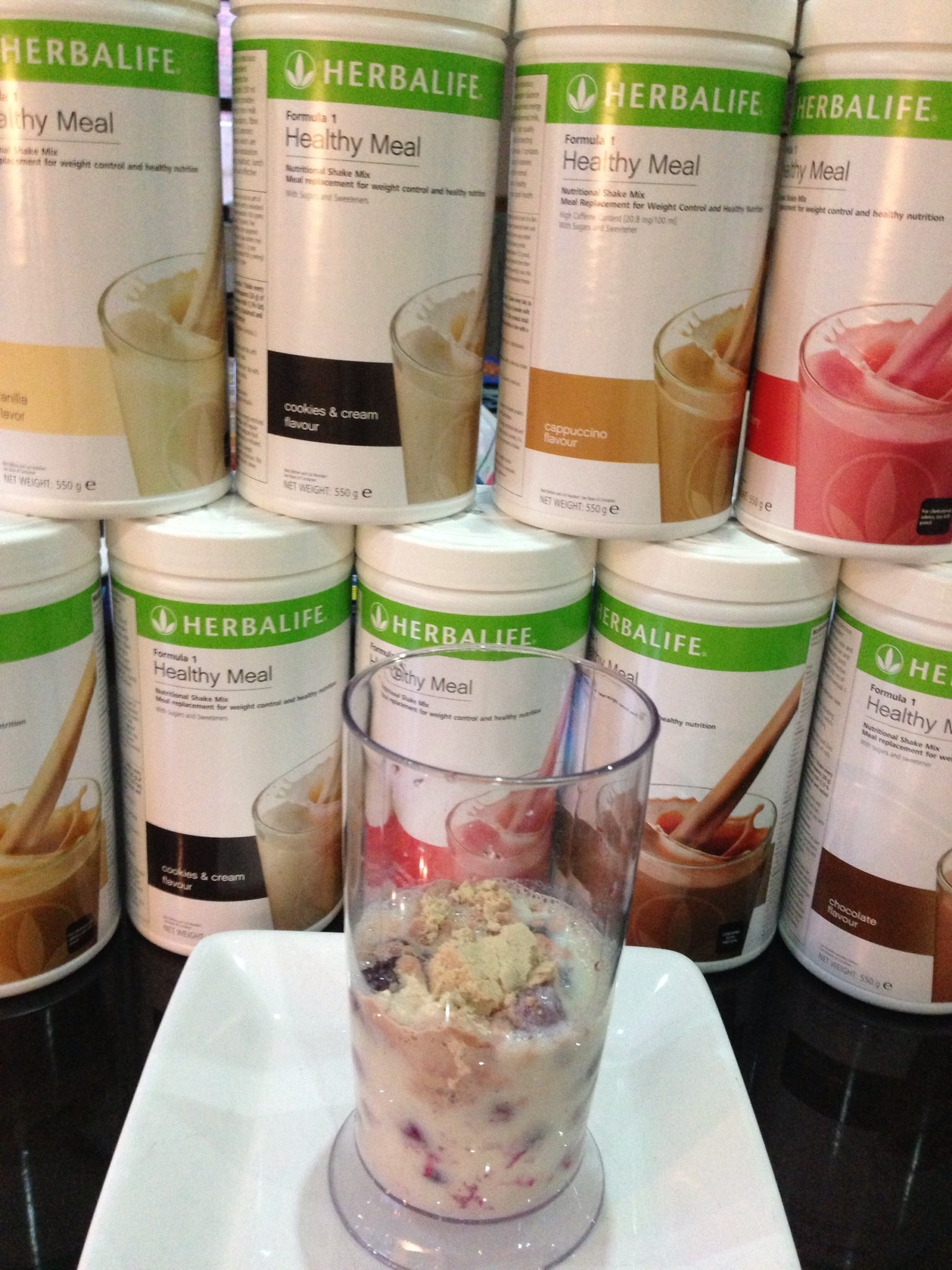 Herbalife protein shake recipes - playing with colour | EZHB